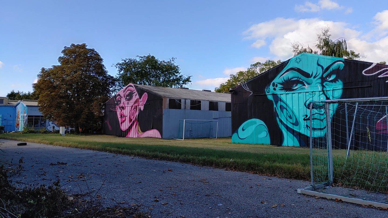 Graffiti-Ausstellung Karlsruher Nordstadt C-Areal