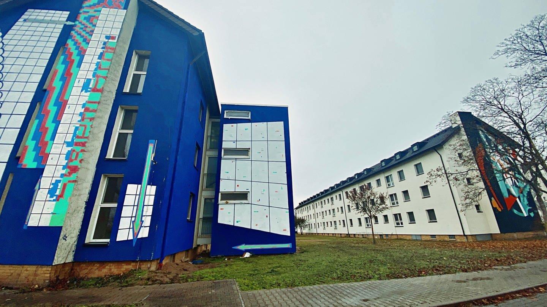 Bunte Gebäude auf PHV (Foto: SWR)