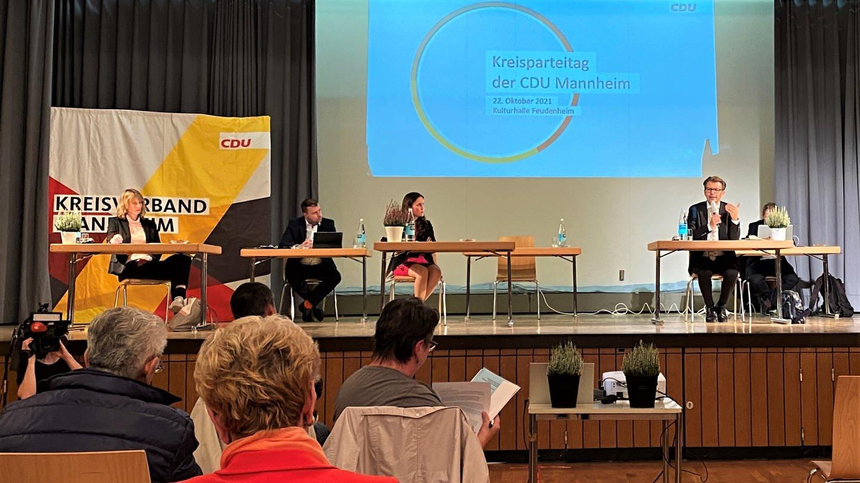 Mannheimer CDU-Kreisparteitag - Zwischenfall bei SWR-Fernsehinterview
