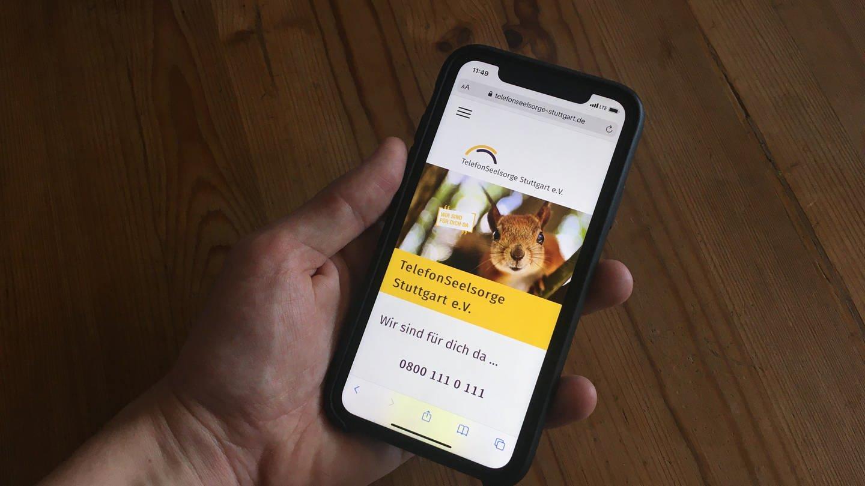 Die mobile Startseite der evangelischen Telefonseelsorge Stuttgart. (Foto: SWR)