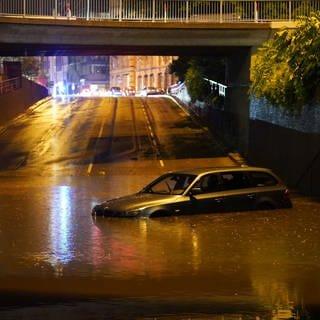 Viele Stuttgarter Tunnel waren im Laufe des Abends wegen des Unwetters mit Wasser vollgelaufen. (Foto: SWR)