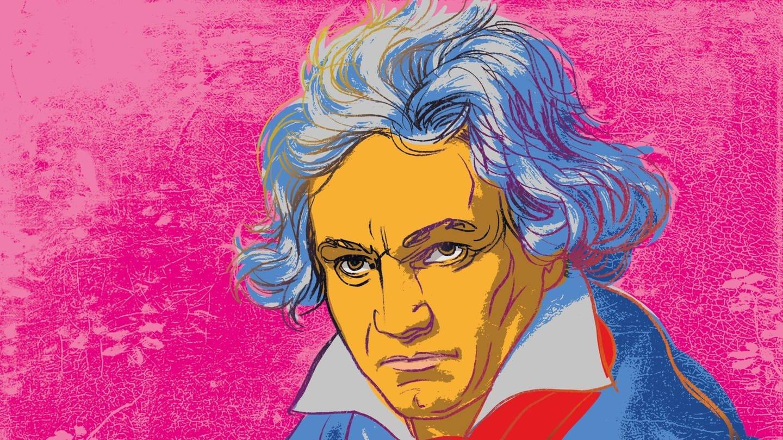 Beethoven_Warhol-Stil_Zeichnung (Foto: SWR)