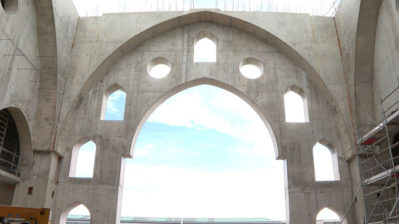 Grundmauern der geplanten Moschee in Straßburg (Foto: FR3)