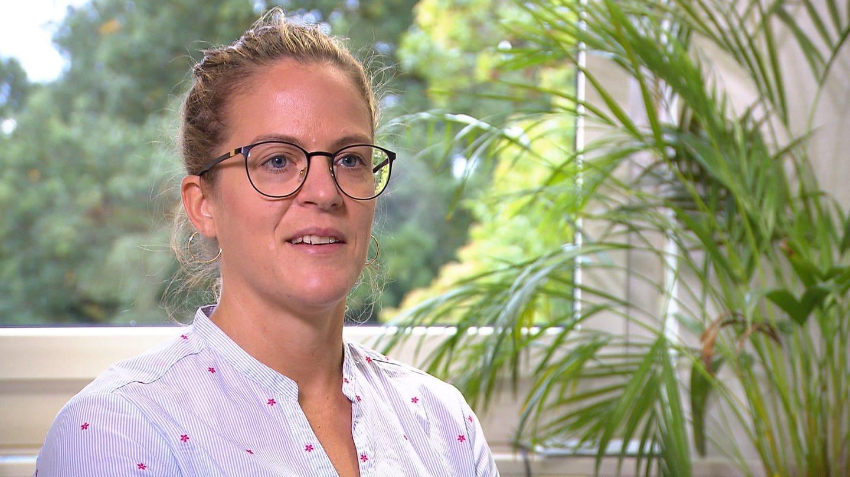 Personalratsvorsitzende der Uniklinik Tübingen, Lena Mayr (Foto: SWR)
