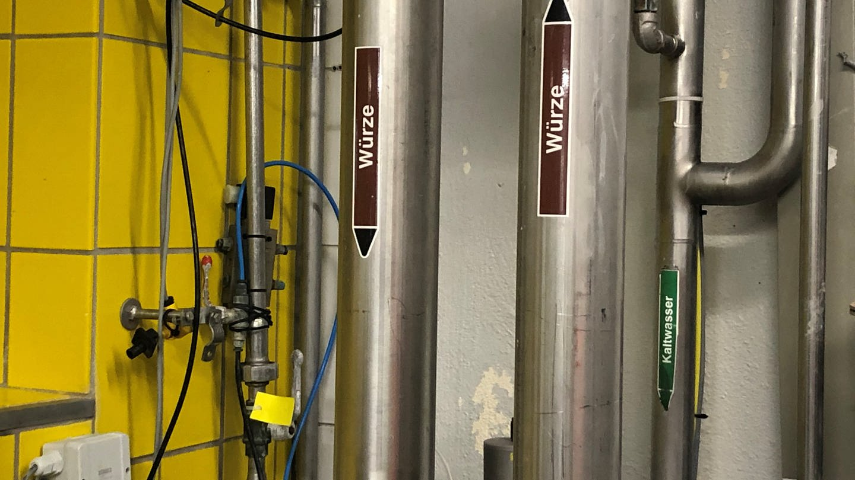 Bier-Pipeline: So sieht es in der Realität aus (Foto: SWR, SWR/Pia-Maria Pelzer)