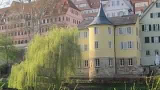 Der Hölderlinturm am Tübinger Neckar (Foto: SWR, Andrea Schuster)