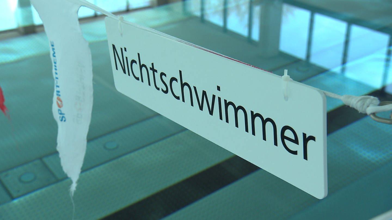 Schild Nichtschwimmer (Foto: SWR)