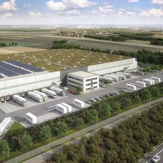 Amazon-Verteilzentrum in Giengen an der Brenz geplant (Foto: Garbe Industrial Real Estate (Illustration))