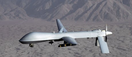 Das undatierte Foto der US Air Force zeigt eine Drohne vom Typ MQ-1 Predator (Foto: picture-alliance / Reportdienste, dpa Bildfunk, US Air Force)