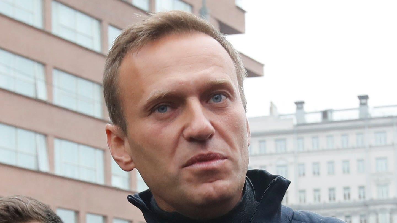 Der russische Oppositionspolitiker Alexej Nawalny bei einer Kundgebung in Moskau