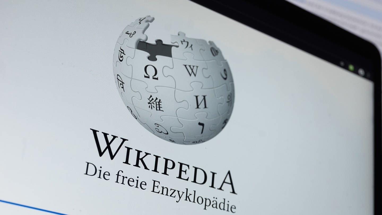 Wikipedia-Logo auf Computerbildschirm (Foto: dpa Bildfunk, picture alliance/dpa | Sebastian Gollnow)