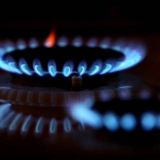 Ein Brenner auf einem Gasherd (Foto: dpa Bildfunk, Picture Alliance)