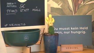Die Rebowl ausgestellt in einem Restaurant (Foto: SWR, SWR)