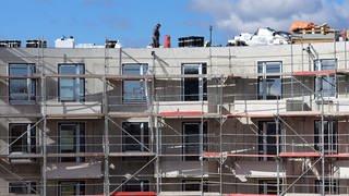 Bau von Sozialwohnungen (Foto: dpa Bildfunk, Picture Alliance)