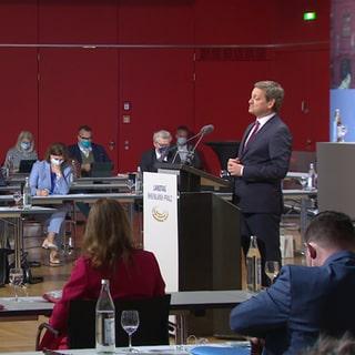 Der rheinland-pfälzische CDU-Fraktionsvorsitzende Christian Baldauf spricht im Landtag bei einer Aussprache der Fraktionen (Foto: SWR, SWR)