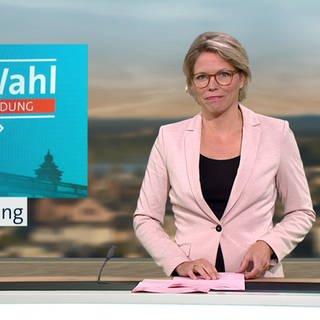 Nachrichtensprecherin Dorit Friederike Becker. (Foto: SWR)