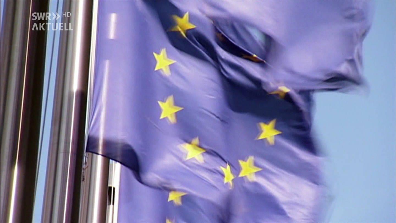 Europa-Flagge im Wind (Foto: SWR)