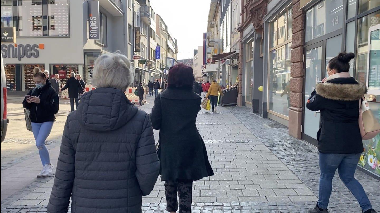 Die Fußgängerzone in Kaiserslautern nach dem Corona-Lockdown (Foto: SWR)