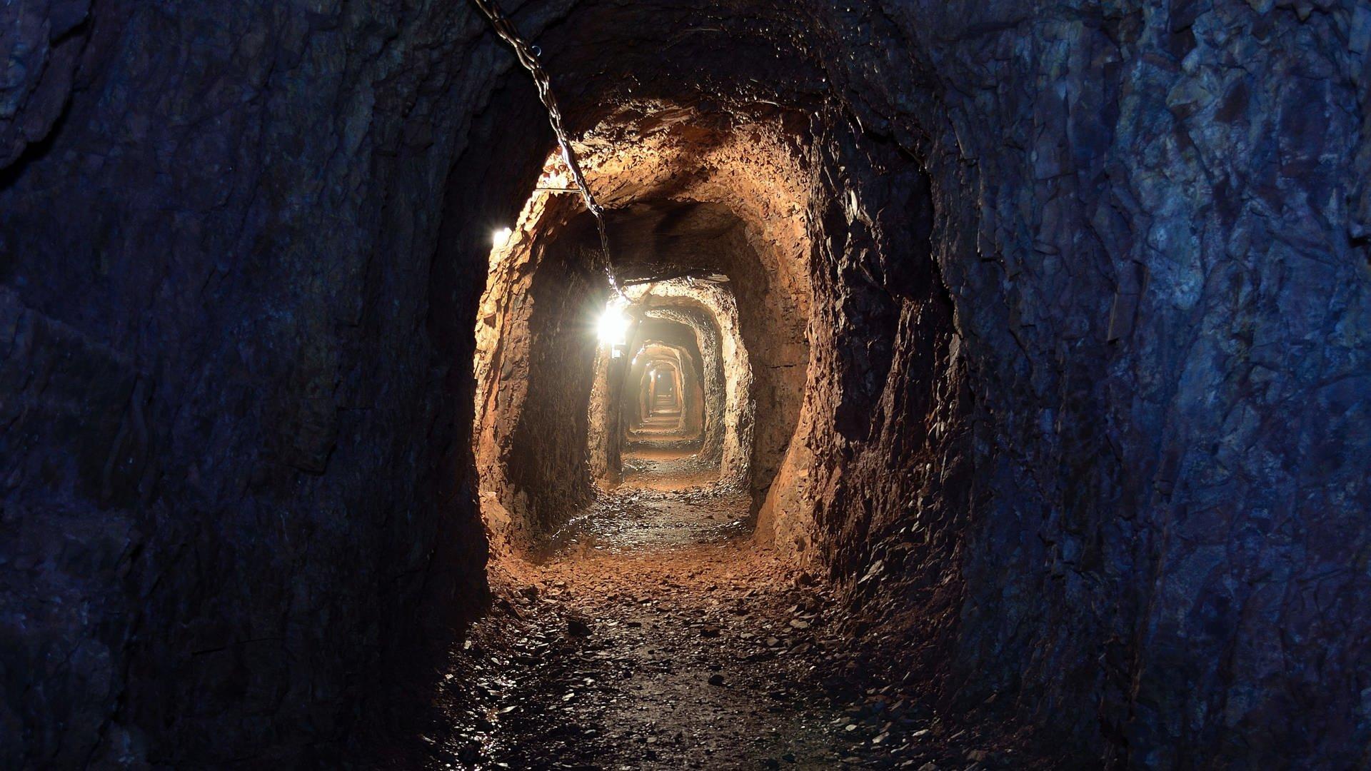 Ein Blick in den Stollen der Grube Maria
