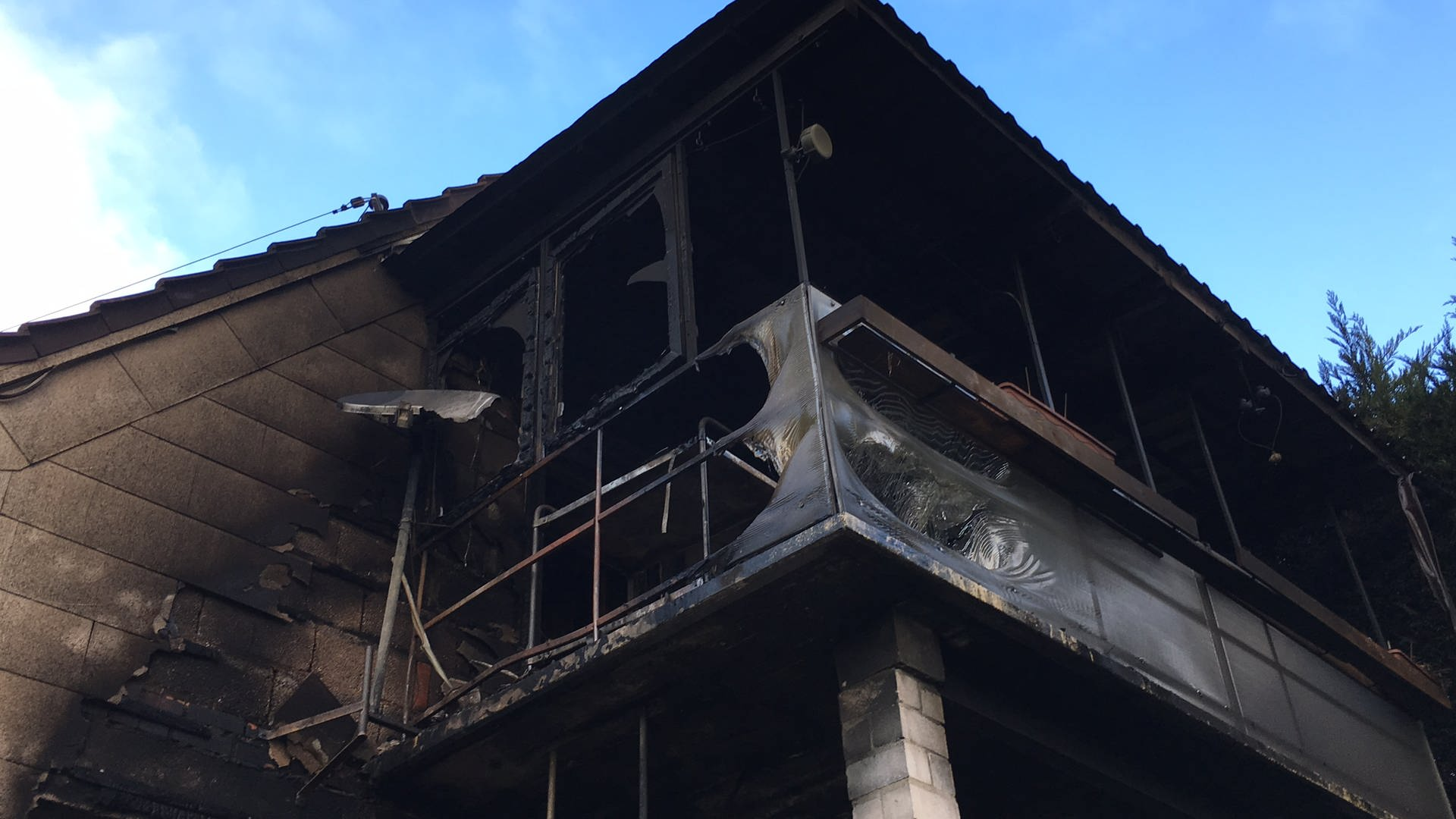 Das ausgebrannte Haus in Dielkirchen.