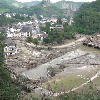 Sicht auf vom Hochwasser zerstörten Ort Altenahr (Foto: 7aktuell.de   Alexander Hald)