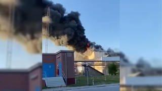 Großbrand in Ludwigshafen (Foto: SWR)