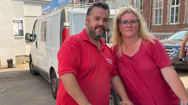 Heike Do Carmo Coelho hat von Oliver Sehn neue Elektrogeräte bekommen. Ihr neu renoviertes Haus wurde durch das Hochwasser in Trier-Ehrang überflutet