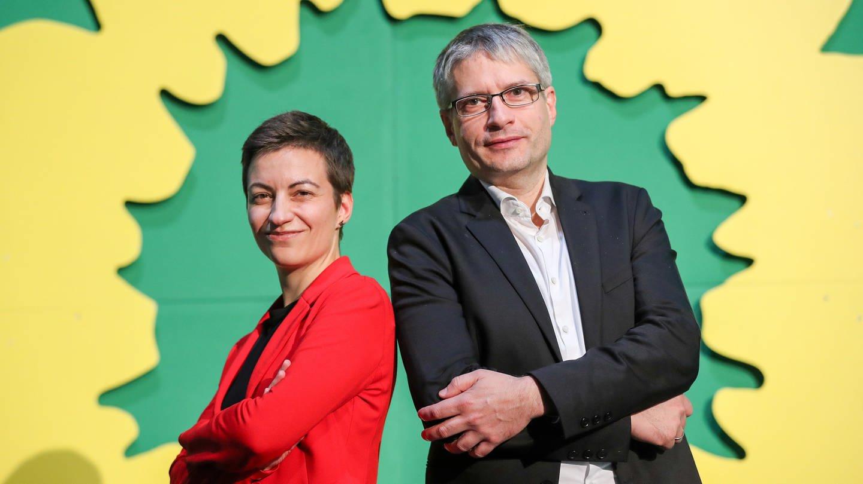 Grüne Spitzenkandidaten Ska Keller und Sven Giegold (Foto: dpa Bildfunk, Picture Alliance)