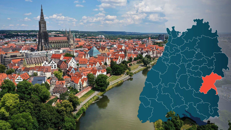 Symbolbild Wahlkreis 291 Ulm Bundestagswahl 2021 in Baden-Württemberg