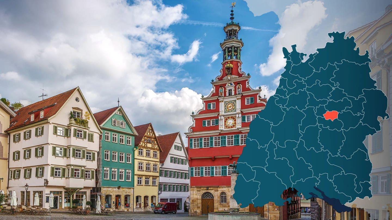 Symbolbild Wahlkreis 261 Esslingen Bundestagswahl 2021 in Baden-Württemberg