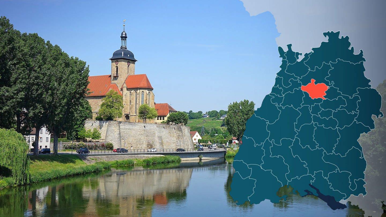 Symbolbild Wahlkreis 266 Neckar-Zaber Bundestagswahl 2021 in Baden-Württemberg