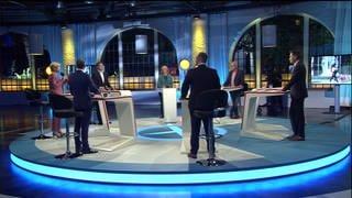 Die Runde der Spitzenkandidaten (Foto: SWR)