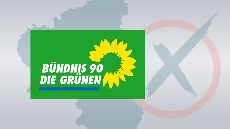 Logo B'90/Die Grünen, die in Rheinland-Pfalz zur Landtagswahl 2021 antreten