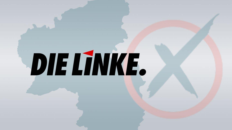 Logo Die Linke, die in Rheinland-Pfalz zur Landtagswahl 2021 antritt