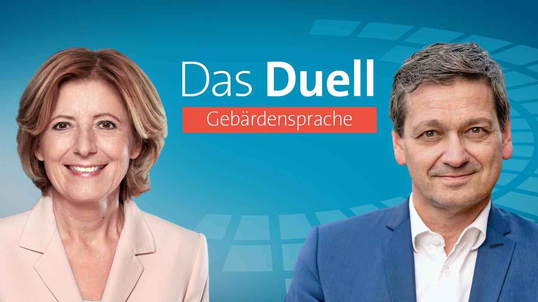 Dreyer gegen Baldauf - Das Duell im SWR zur Landtagswahl 2021 in Rheinland-Pfalz in Gebärdensprache (Foto: SWR/dpa/Picture Alliance)