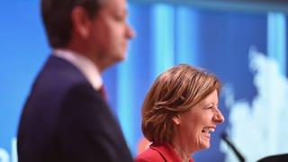 Baldauf und Dreyer nach der Wahl (Foto: dpa Bildfunk, picture alliance/dpa | Boris Roessler)