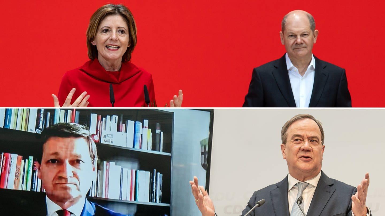 Beratung Landtagswahl (Foto: dpa Bildfunk, Beratung Landtagswahl)