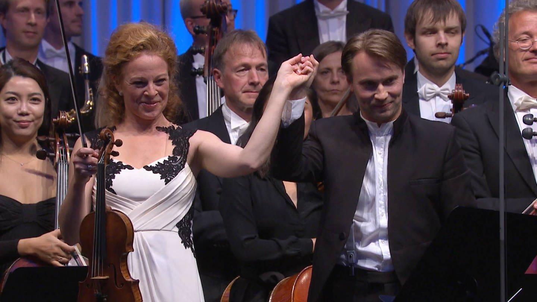 Carolin Widmann, Pietari Inkinen und die Deutsche Radio Philharmonie Saarbrücken Kaiserslautern