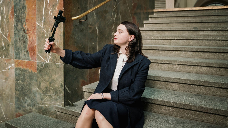 Sophie Scholl (Luna Wedler) (Foto: SWR, ©SWR/BR/Sommerhaus/Rebecca Rütten)
