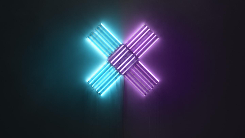 leuchtendes X