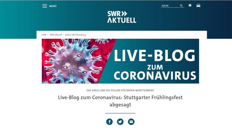 SWR Corona Live-Blog (Foto: SWR)