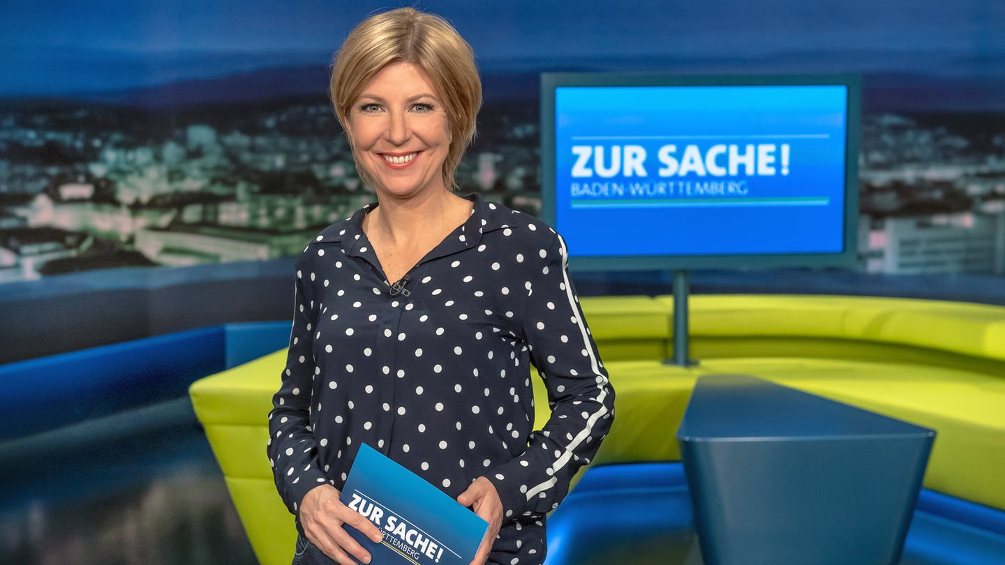 Das Politikmagazin fürs Land, jew. donnerstags um 20.15 Uhr im SWR Fernsehen (BW), hier mit Stefanie Germann. © SWR/Alexander Kluge (Foto: SWR, Alexander Kluge)