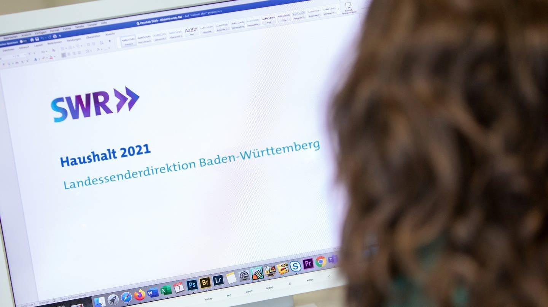 Im Fokus der Beratung: Haushalt 2021 des Landessenders Baden-Württemberg © SWR/Thorsten Hein (Foto: SWR)
