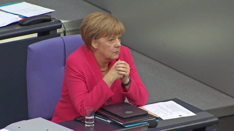 Bundeskanzlerin Angela Merkel im Bundestag. © SWR (Foto: SWR)