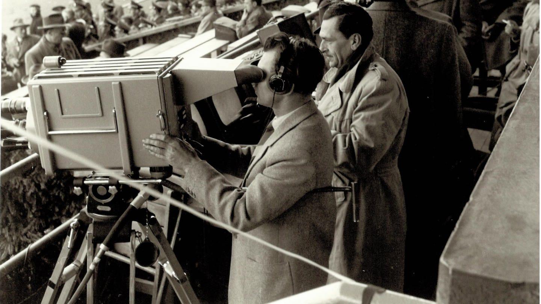 Fernseh-Liveübertragung eines Fußballländerspiels