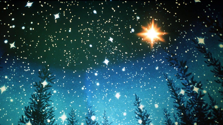 Den Himmel über Palästina mit dem Weihnachtsstern zur Zeit von Christi Geburt beobachten Besucher des Deutschen Museums in München im Planetarium