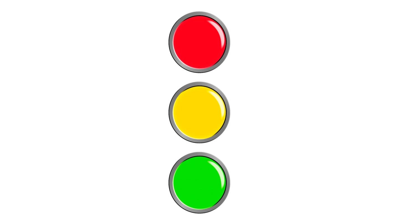 Ampel: rot, gelb, grün (Foto: Colourbox)