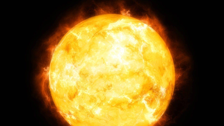 Blick auf die Sonne im Weltall