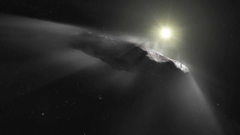 Künstlerische Darstellung des interstellaren Asteroiden Oumuamua (Foto: Imago, imago images / ZUMA Press)