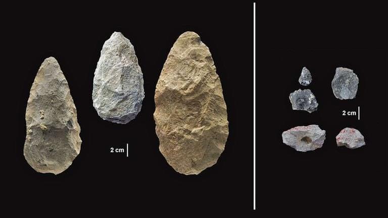Werkzeug-Funde aus dem Olorgesailie-Becken in Kenia